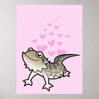Amor barbudo del dragón/del dragón de Rankin Póster