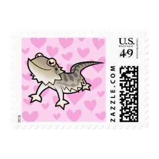 Amor barbudo del dragón/del dragón de Rankin Sellos Postales