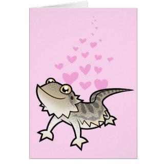 Amor barbudo del dragón/del dragón de Rankin Tarjeta De Felicitación