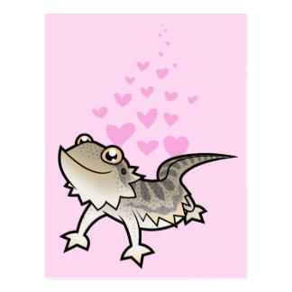 Amor barbudo del dragón/del dragón de Rankin Tarjetas Postales