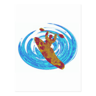 Amor básico del kajak tarjetas postales