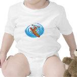 Amor básico del kajak trajes de bebé