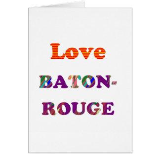 Amor BATON ROUGE Luisiana Tarjetón