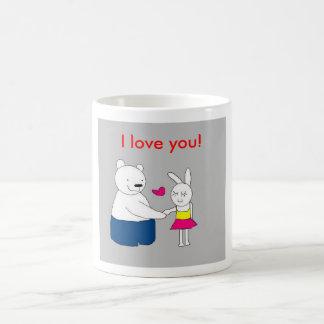 Amor Bear&Rabbit Taza De Café