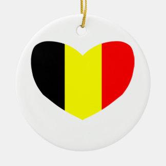 Amor Bélgica Adorno Navideño Redondo De Cerámica