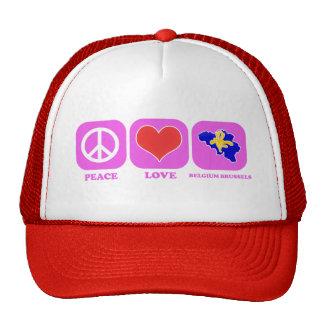 Amor Bélgica Bruselas de la paz Gorro
