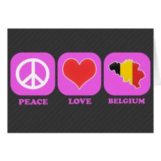 Amor Bélgica de la paz Tarjeta