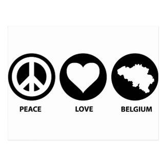 Amor Bélgica de la paz Tarjeta Postal