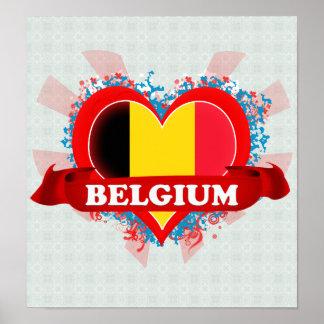 Amor Bélgica del vintage I Poster