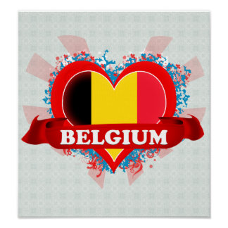 Amor Bélgica del vintage I Póster