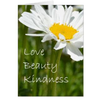 Amor, belleza, amabilidad felicitación