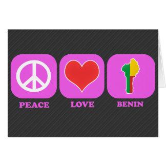 Amor Benin de la paz Tarjeta