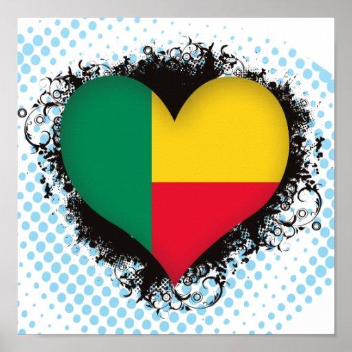 Amor Benin del vintage I Posters