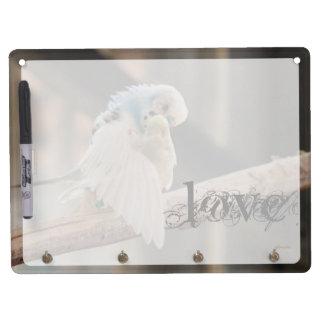 Amor/besar personalizado de la foto de los pájaros pizarra