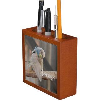 Amor/besar personalizado de la foto de los pájaros portalápices