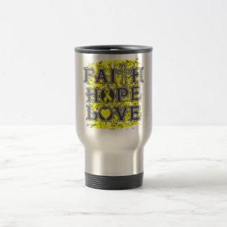 Amor bífido de la esperanza de la fe de Spina Tazas De Café