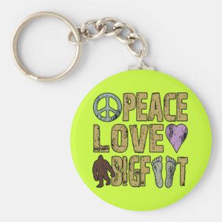 Amor Bigfoot de la paz Llavero Personalizado