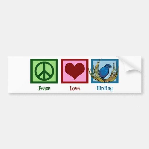 Amor Birding de la paz Pegatina Para Auto