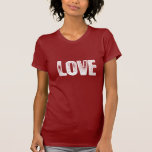 Amor - blanco camisetas