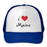 Amor blanco y del azul rojo Maine I Gorras