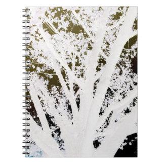 Amor blanco y negro de la foto cuaderno