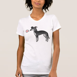 Amor blanco y negro del galgo italiano camisetas