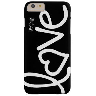 amor - blanco y negro funda de iPhone 6 plus barely there