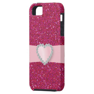 Amor Bling rosado - caso iPhone5 iPhone 5 Protector