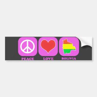 Amor Bolivia de la paz Pegatina Para Auto