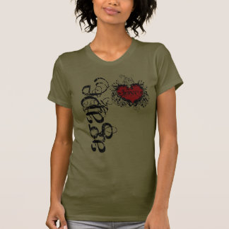 Amor boquiabierto camiseta