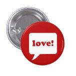 """amor!"" botón pin"