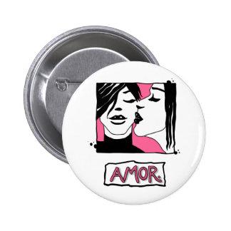Amor. Botón redondo Pins