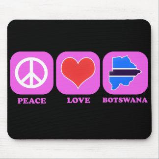 Amor Botswana de la paz Tapetes De Ratón