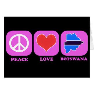 Amor Botswana de la paz Tarjeta
