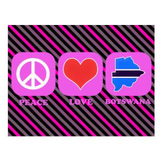 Amor Botswana de la paz Tarjetas Postales