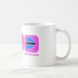 Amor Botswana de la paz Tazas De Café