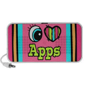 Amor brillante Apps del corazón I del ojo Mp3 Altavoz