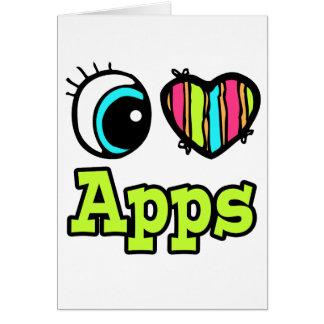 Amor brillante Apps del corazón I del ojo Tarjeta De Felicitación