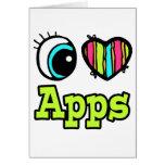 Amor brillante Apps del corazón I del ojo Tarjetas