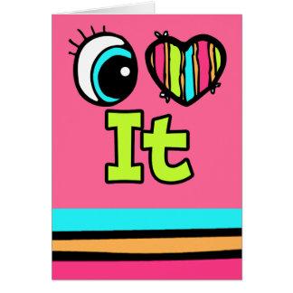 Amor brillante del corazón I del ojo él Tarjeta De Felicitación