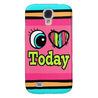 Amor brillante del corazón I del ojo hoy Funda Para Galaxy S4