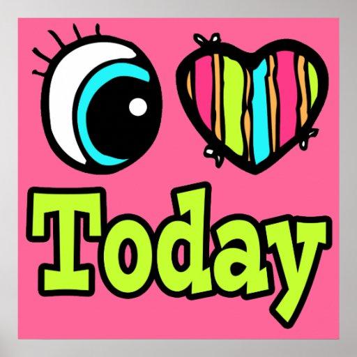 Amor brillante del corazón I del ojo hoy Póster