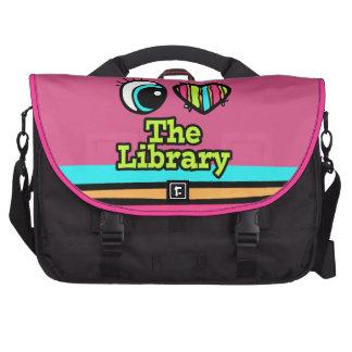 Amor brillante del corazón I del ojo la biblioteca Bolsas De Ordenador