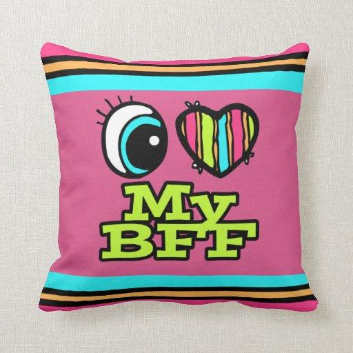 Amor brillante del corazón I del ojo mi BFF Almohada