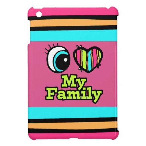 Amor brillante del corazón I del ojo mi familia iPad Mini Protectores