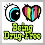 Amor brillante del corazón I del ojo que es Droga- Posters