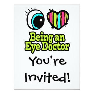 Amor brillante del corazón I del ojo que es un Invitaciones Personalizada