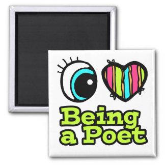 Amor brillante del corazón I del ojo que es un poe Imán De Frigorífico