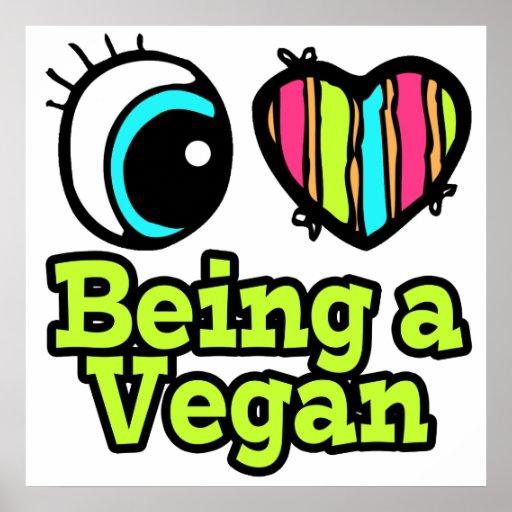 Amor brillante del corazón I del ojo que es un veg Póster