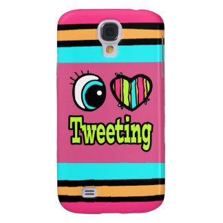 Amor brillante del corazón I del ojo que pia Funda Para Galaxy S4